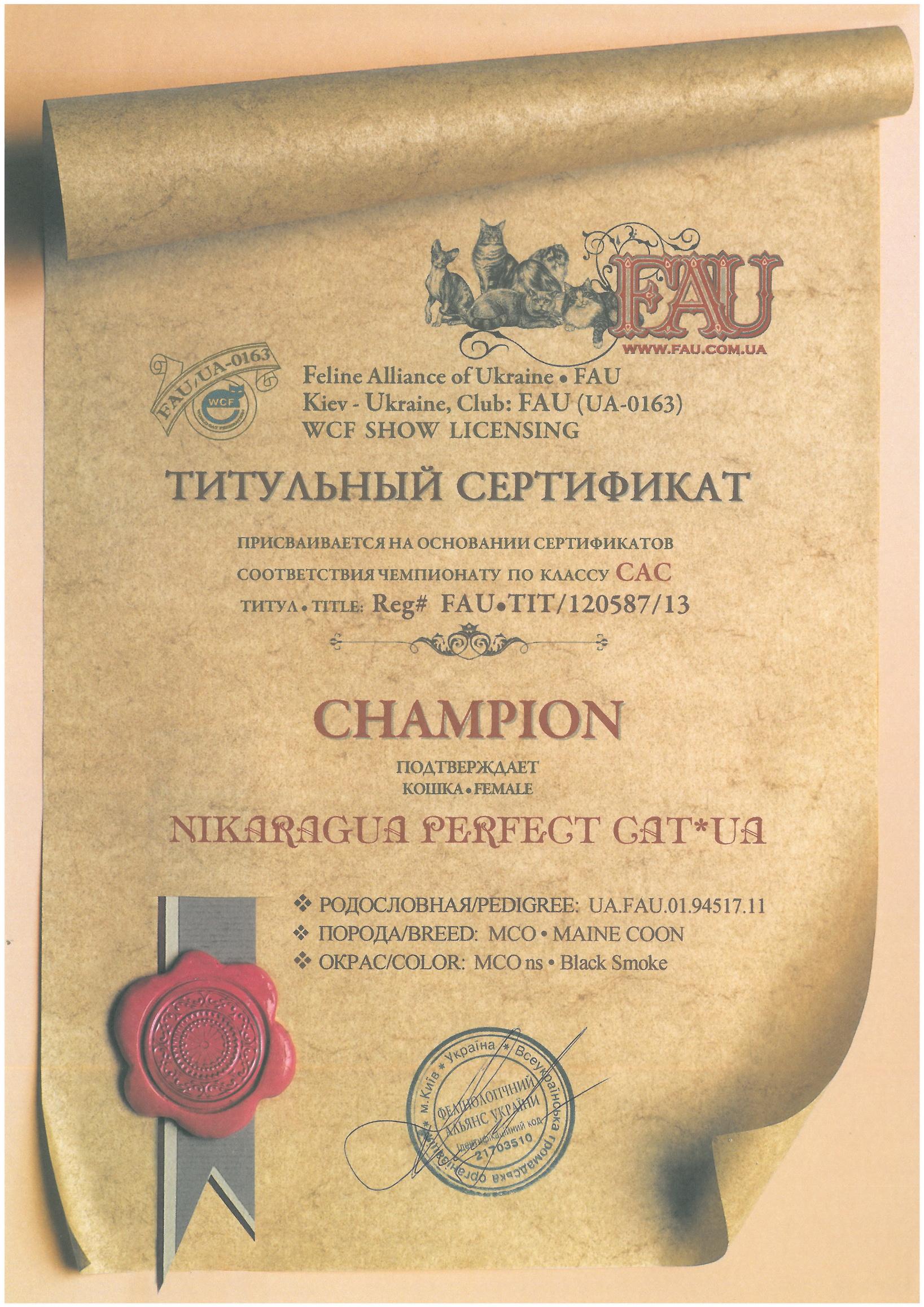Champion (WCF) Nikaragua